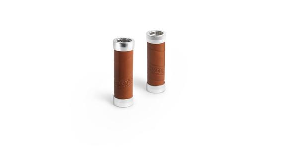 Brooks Slender handvatten Leather honing/zilver